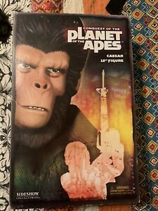 Conquest Of The Planet of the Apes Caesar 12 Inch figure Sideshow  New In Box