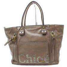 Chloe Large Brown Logo Zip Shopper Tote 869608