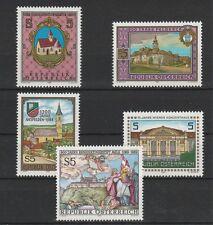 V1683 Austria/architettura MiNr 1933+1934+1935+1937+1944 **