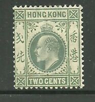 Album Treasures Hong Kong Scott # 87  2c  Edward VII  Mint Hinged
