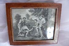 Tabakdose Italien um 1850 mit Kupferstich hinter Glas !