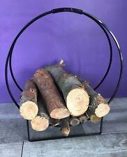 NALIAN® Porte-bûches design moderne - support bois range buches cheminée panier