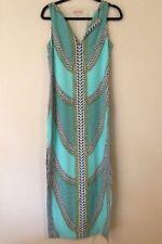 NEW Mara Hoffman COLUMN SHIFT MIDI Dress in SHIELDS BLUE Tribal Summer Size 2