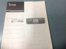 ICOM IC-756 manuale di istruzioni