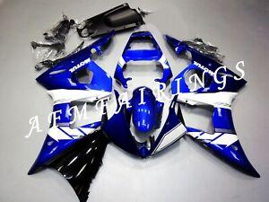 Blue White ABS Injection Mold Bodywork Fairing Kit Panel Set For YZF R6 2005