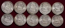 Lot 5 - 10 Mexican Silver Pesos All 1962 All Uncirculated Minor Toning - L@@K