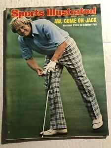 1975 Sports Illustrated PGA CHAMPION Jack NICKLAUS No Label ANOTHER PGA TITLE NL