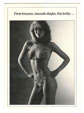 Vintage 1980's SEXY YOUNG WOMAN BIKINI Birthday Greeting Card w/ Envelope G5