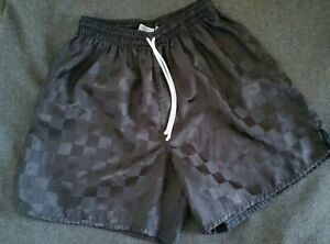 Vintage HIGH 5 FIVE Shiny Checkered Black Soccer Running Shorts Unlined Sz M