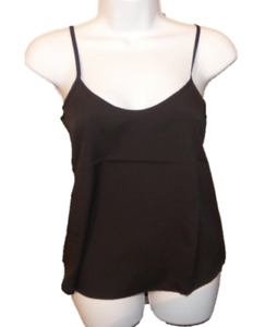 size 8 black vest cami  top your style nwt