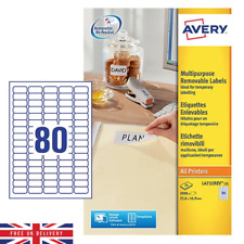 Avery Multipurpose Labels For All Printers Pack of 2000