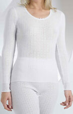VEDONIS/SLENDERELLA VUW703 LONG SLEEVE THERMAL CAMI (SHORT VEST) IN CREAM