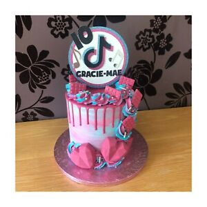 Tik Tok Cake Topper - Personalise Name/Age