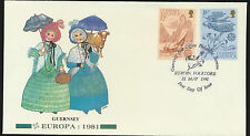 Guernsey Europa First Day Cover Cacheted Unaddressed Lot A164