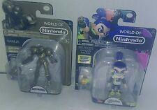 "9"" World of Nintendo Metroid Trophy Samus bended corner and Inking Boy"