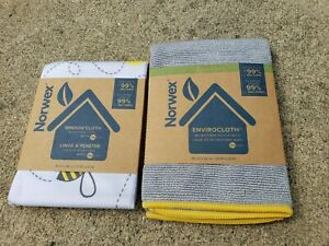 NEW Norwex LE Queen Bee Set - Window Cloth and coordinating Envirocloth Set