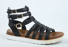 Women's Cute Zip Thong Buckle Strappy Gladiator Flat Sandal Shoes Size 5 -11 NEW