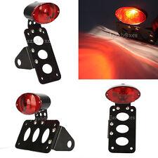 Brake License Plate Holder Tail Light For Motorcycle Cruiser Chopper Bobber US