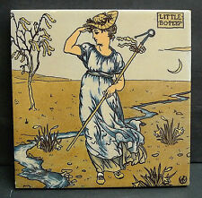 Little Po Peep-Vintage Tile with Walter Crane Image by Mosaic Tile Co.