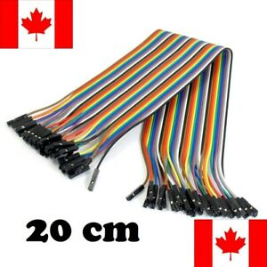 Female To Female 40 Piece/Pin Dupont Wire 20cm Jumper Set Arduino Uno CANADA
