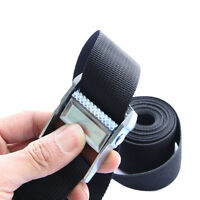 Metal Cam Buckle Tie Down Safe Nylon Quick Lock Strap Heavy Luggage Cargo Lash