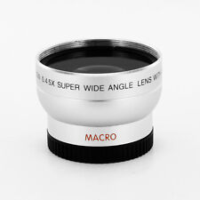 Wide Angle Lens X 0.45 + Macro FOR SONY HDR-SR5 HDR-SR7
