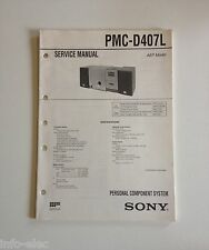 Schema SONY - Service Manual Personal Component System PMC-D407L  PMCD407L