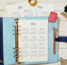 2019 Dates A5 Size Planner Insert Ringbound Filofax KikkiK
