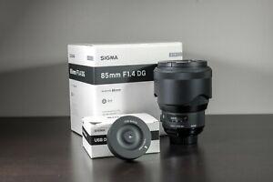 Sigma Art 85mm F/1.4 HSM DG Lens For Nikon + USB Dock