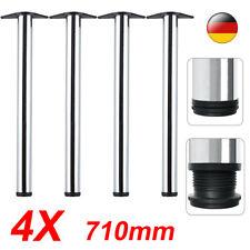 4er SET 710mm Tischbein Tischfuß Möbelfuß Stahl rund Ø 60mm Stützfuß NEU