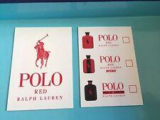 1 Tres Jolie carte Parfumée Polo Red De Ralph Lauren