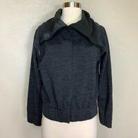 Nau Randygoat Jacket Heather Gray Size XS Casual Wool Blend Cropped Womens