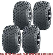 88-00 Kawasaki Mule 1000 2010 2500 2510 Full Set WANDA ATV Tires 22x11-10 4PR