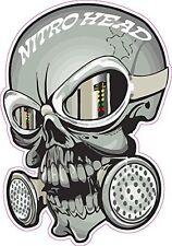 "Nitro Head Skull Mask 6"" Decal - Free shipping"