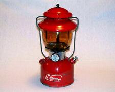 1968 Vintage Coleman Red 200A Amber Globe Single Mantel Lantern CLEAN