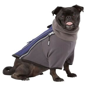Top Paw Dog Bonded Fleece Turtleneck Blue XS-XXL Fleece Lining Warm Reflective
