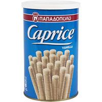 Papadopoulos Caprice Vanilla Wafer Rolls 250g Greek