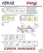 Safety Card - CSA Czech - ATR 42  (S2239)
