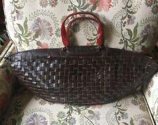 vintage handbags Brown Leather Woven