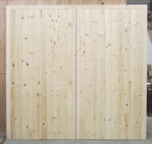 Wooden Garage Doors Frame, Ledge & Braced Mortice & Tenoned