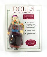 Dolls Of The World Genuine Porcelain Doll + Collectors Guide Mag #34 AFGHANISTAN