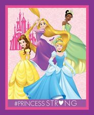 "Disney Dream Big Princess Castle Cotton Fabric Springs CP63617 36""X44"" Panel"