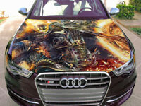 Vinyl Car Hood Wrap Full Color Graphics Decal Ghost Rider Sticker