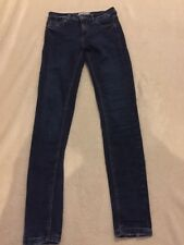 """NEW LOOK mid Rise Blue Skinny Jeans Jeans Size 8 VGC 30"""" Inside Leg"""