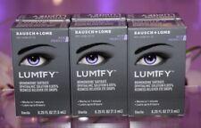 3 x Bausch & Lomb Lumify Eye Drops 0.25 fl. oz (7.5 ml) 2023 FREE SHIPPING! NEW