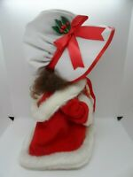 Vintage Santas's Best Animated Doll w/Cape Undercover Kids Christmas Girl Emily
