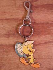 Vintage Tweety Bird key chain-Tennis-1999 Warner Bros.