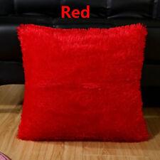 Soft Fur Plush Square Throw Pillow Cases Home Decor Sofa Waist Cushion Cover--