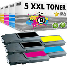 5x XL TONER für DELL C3700 C3760DN C3760N C3765DNF 4CHT7 FMRYP 40W00 F8N91 SET