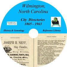 WILMINGTON North Carolina CITY DIRECTORY - History Genealogy - 24 Books CD DVD
